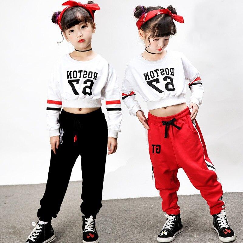 12 ensembles/lot midriff-baring Pop Jazz Hiphop costume Hip Hop danse vêtements danse Costumes pour enfants garçons filles femmes hommes