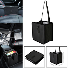 For Stowing Tidying 1pc Leakproof Trash Can Rubbish Bin Foldable Car Waste Basket Storage Bag Mayitr