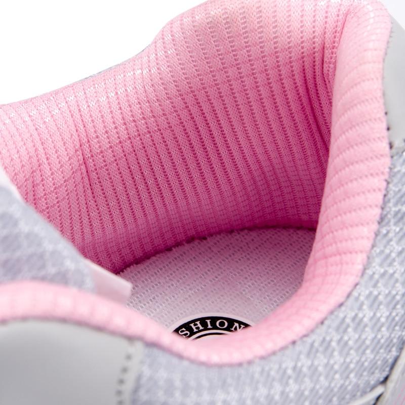 Schnelle lieferung Neue ankunft Frau Casual Komfortable Große größe 35-44 schuhe 2018 Mesh frau flache mischfarben Schuhe tenis feminino