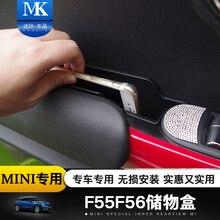 2 pz/set Auto Lato Interno Maniglia Della Porta Anteriore Braccioli Storage Box ABS Supporto Del Vassoio Per La Mini Cooper F55 F56 Auto accessori per lo styling