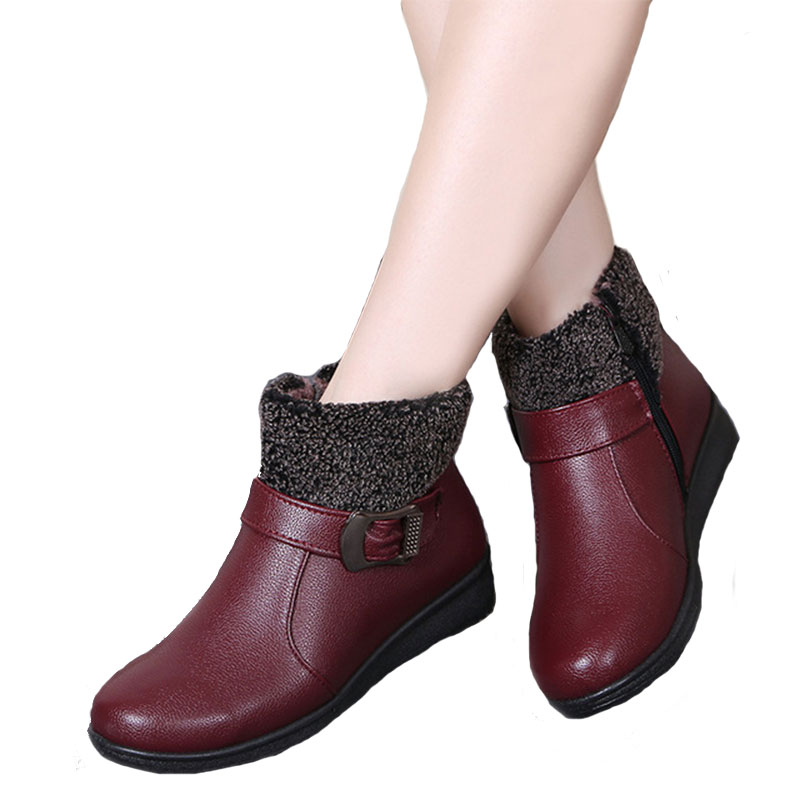 Women Winter Boots Female Zpi Ankle Boots Waterproof Warm Snow Boots Girls Ladies Shoes Woman Warm