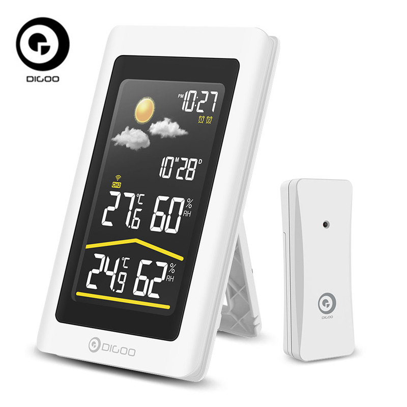 Digoo DG-TH11300 Weather Station Outdoor HD Hygrometer Thermometer Digital Forecast Sensor Humidity Temperature Sensor Clock