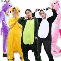 Winter Kigurumi Flannel Cartoon Pyjamas Cosplay Animal Funny Pajamas Adults Stich Pajama Suit Women S Unicorn