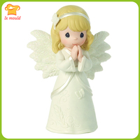 2019 new 3D candle mold silicone mold baby prayer angel silicone mould fondant baking decoration