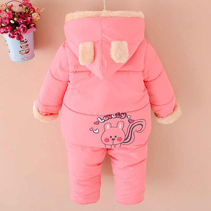 9fd1ad99dd32 NEW Baby Set Winter Spring BABY Girl Cartoon coat Thick Warm Coat+ ...