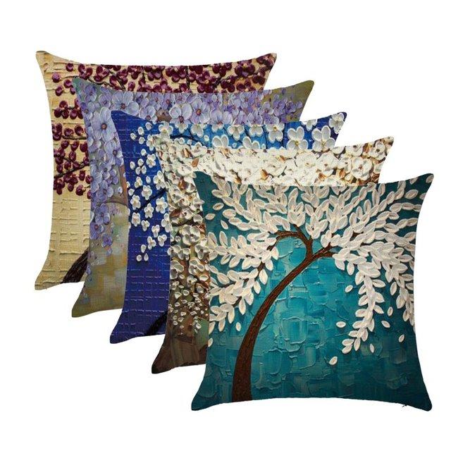 Декоративные подушки для диванов в скандинавском стиле, чехлы для масляной живописи, чехлы для подушек с геометрическим рисунком цветов, чехлы для диванов, 45x45