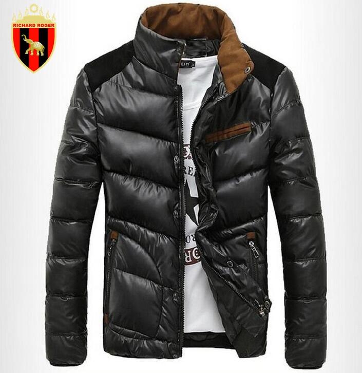 ФОТО RICHARD ROGER Coat Down Cotton Parka Jacket Plus Size Outwear Windbreaker Warm Casual Sportwear Coat Men's Casual Cotton Jacket