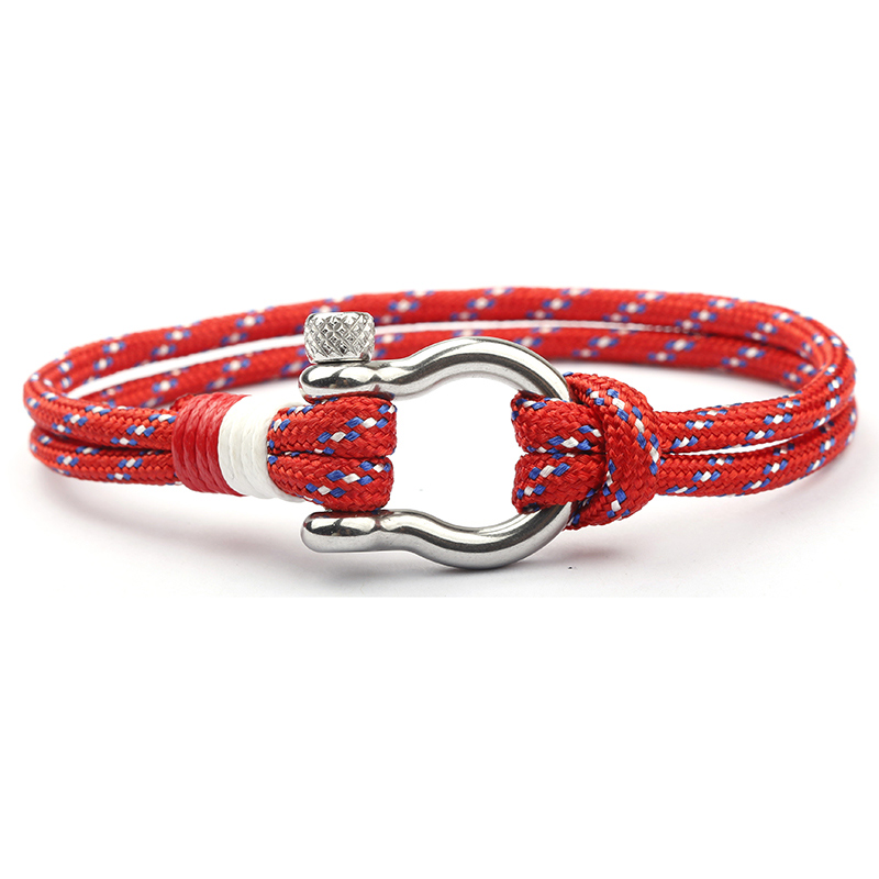 NIUYITID 2018 New Stainless Steel Buckle Men Bracelet Fashion Paracord Rope Navy Style Male Charm Braclet Jewelry High Quality (6)