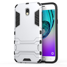 For Coque Samsung J5 J530 2017 Hybrid Dual Heavy Duty Iron Man Shield 3D Armor Case For Samsung Galaxy J5 2017 Kickstand Cover