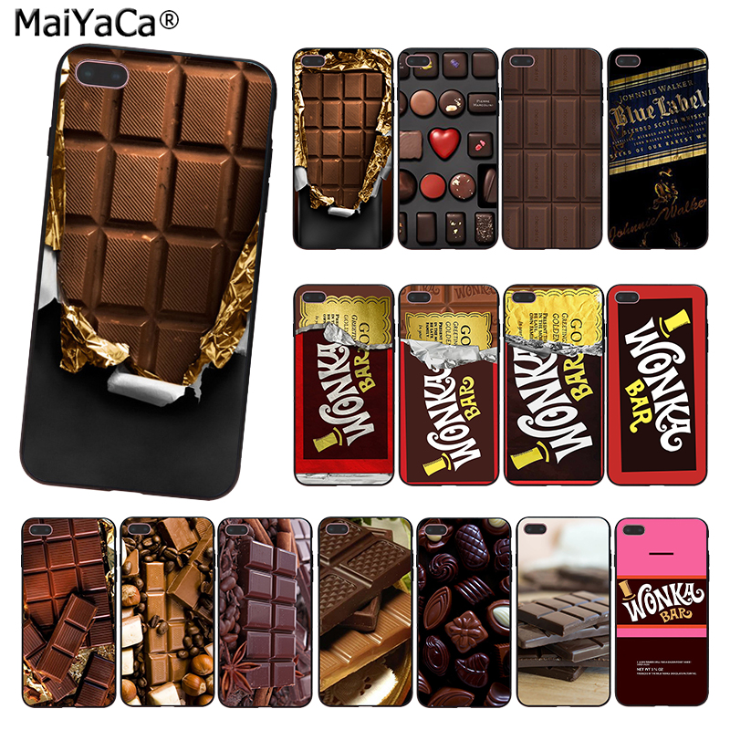 Maiyaca Willy Wonka Bar With Golden Ticket Sweet Chocolate Bar Phone Case For Iphone 11 Pro 8 7 66s Plus X 5s Se Xs Xr Xs Max