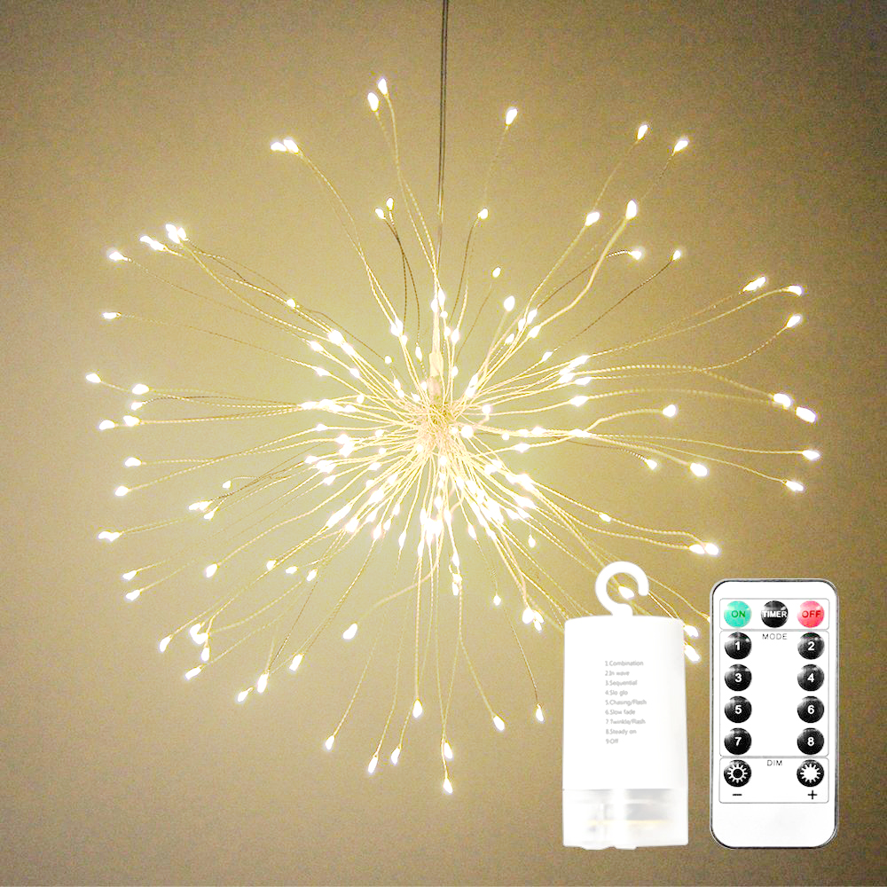 DIY Foldable Bouquet Shape LED String Lights Firework Battery Operated Decorative Fairy  ...