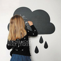 Cloud Shaped Chalkboard Wall Sticker Decal Home Decoration Vinyl Wall Lettering Words Decals Decal 55cmX55cm Free