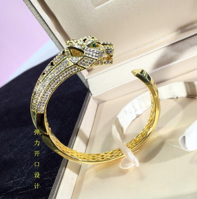 Chaude Bijoux de Partie de Mode Pour Femmes Rose Or Noir Motif Panthère bijoux de mariage Léopard Bracelet Réglable Bijoux