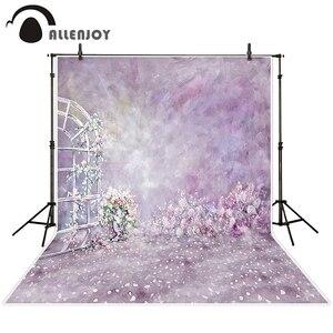 Фон Allenjoy для фотосъемки с изображением весенних цветов, лепестков, окон, фотофоны для детей, девочек, Фотофон