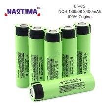 Recarregável para Panasonic Nastima 6 Pcs Ncr18650b 100% Marca Original 18650 DA Bateria 3.7 V 3400 Mah Li-ion Lanterna