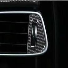 Carbon Fiber Style Air Conditioning Outlet Adjustment Switch Sequins Cover Trim ABS 2pcs For Jaguar XE X760 F-Pace X761 2016-17 carbon fiber style center console gear shift panel decoration cover trim for jaguar xe x760 f pace x761 2016 18 abs modified