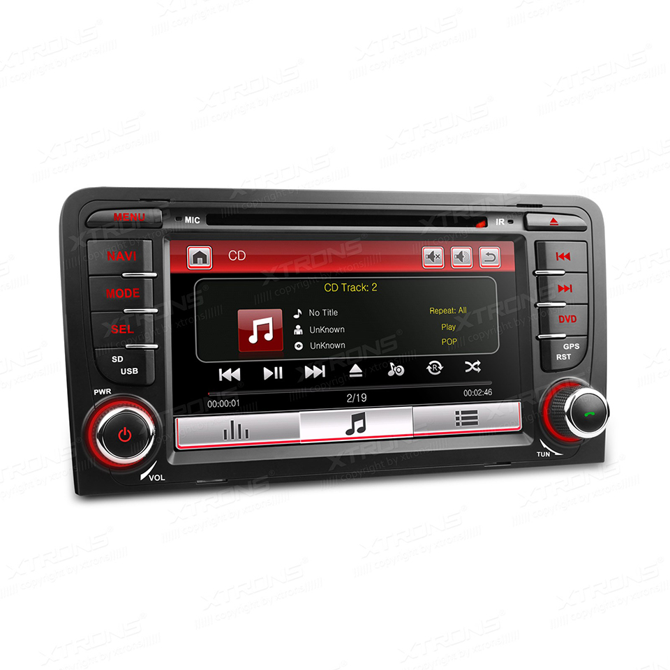 7 double 2 din car dvd radio gps navi fit for audi a3 s3 for Mueble 2 din audi a3