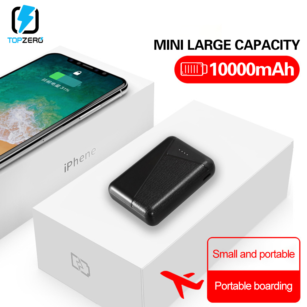 10000mAh Mini Power Bank Dual USB Portable Charger Mobile Phone External Battery Fast Charge For Iphone Xiaomi Huawei Powerbank