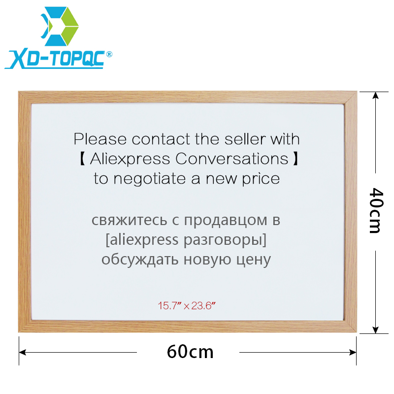 XINDI 40*60cm Whiteboard 10 Colors MDF Frame Magnetic Drawing White Board Message Dry Erase Free Accessories Factory Outlet WB25