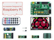Best price Accessories Pack for Raspberry Pi Model A+/B+/2 B/3 B = 3.5inch RPi LCD + DVK512 Expansion Development Board+ Modules