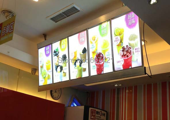 column restaurant led menu light box hotel led menu board menu