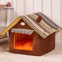 New Fashion Striped Pet Cat Dog Bed House Removable and Breathable Waterproof Soft Sofas For Small Medium Dogs Pet Supplies