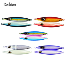 Deshion 1PC Deep Sea Metal Fishing Jigs 150g 200g Saltwater Metal Jigging Fishing Lure Lead Fish Spoon Lure Vertical Jigging цены