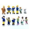 12 Шт./компл. Пожарный Сэм фигурку игрушки 3-6 см Милый Мультфильм ПВХ Куклы Для Детей Рождественский Подарок