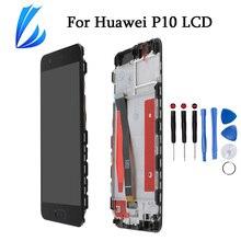 Pantalla LCD sin píxeles muertos para Huawei P10, pieza de repuesto de Pantalla táctil P10, montaje de digitalizador de Pantalla LCD y herramientas