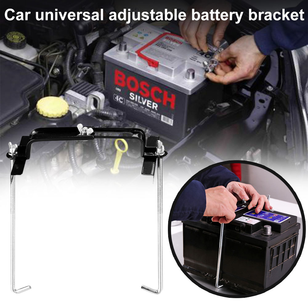 Metal Adjustable Universal Battery Holder Stabilizer Mount Storage Rack Fixed Bracket Stand Automobile Car