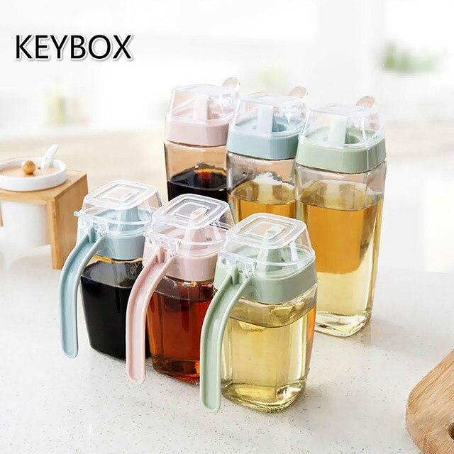 350/550ML Glass Oil Bottle Vinegar Bottles Sesame Oil /Soy Sauce Bottle  Leakproof Oil Tank Olive Oil Pot Bottle Kitchen Tool