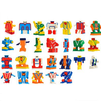 26pcs English Letter Transformation Robots Alphabet Puzzle Assembled Deformation Robot Action Figure Educational Kids Learn Toy
