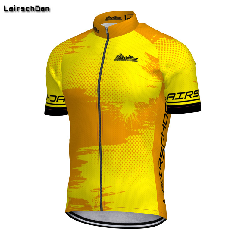 SPTGRVO Lairschdan 2019 Yellow Jersey Hombre Ciclismo Pro Team Bicycle Clothing Summer Short Sleeve Quick Dry MTB Bike Shirt(China)