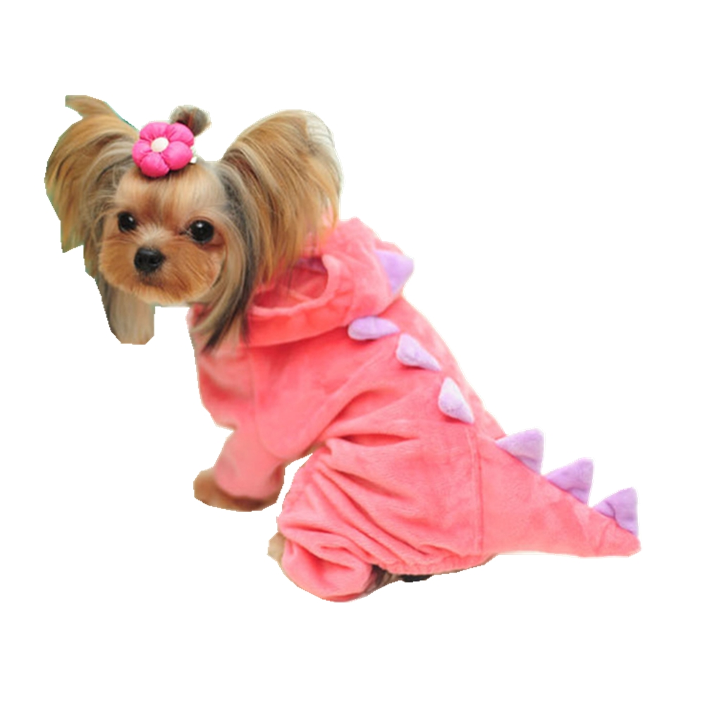 Cosy Dog Dinosaur Halloween Costume XL Pink Blue Winter Clothing Girl Extra Small Pet Hoodie Jumpsuit Cotton Yorkie Clothes Boys