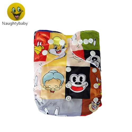 U Pick Naughty Baby Pocket Diapers OneSize Reusable Washable Nappies with 1Insert and Lot