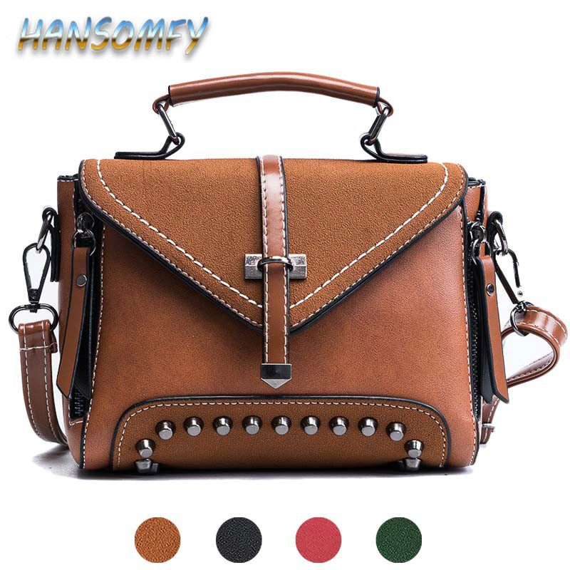 Retro leather shoulder bags women's vintage bag women handbag ladies casual Brown small messenger crossbody bag female CC 26