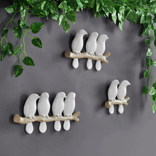 home decoration accessories for living room wall sticker Resin birds decor figurine wall art 3D stickers Mural wall decoration стоимость