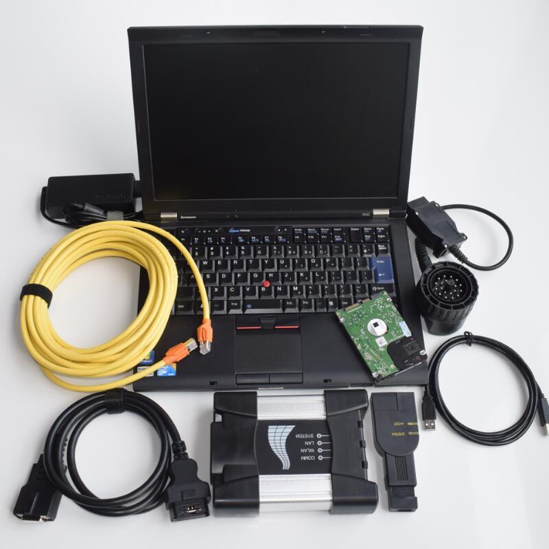 2018.09 v il nuovo software per bmw icom prossimo a b c hdd in t410 computer portatile i5cpu win7 sistema di Rheingold multi lingue diagnosticare