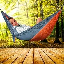 Portátil al aire libre Barbacoa de Camping de Picnic Doble Persona Hamaca 2 Personas Recreación Acampar Jardín Ocio Hamaca Viajera