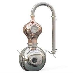 YUEWO 15 литров 4 галлона медный Самогон Еще спиртные напитки Вода спирт дистиллятор для домашнего пивоварения вина делая комплект из нержавею...