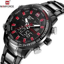 NAVIFORCE Marca de Lujo de Los Hombres de Acero Completo Impermeable Cronómetro de Cuarzo Analógico Deportes Relojes Hombre Reloj Horas Relogio masculino