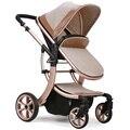 2017 Nuevo diseño de Lujo del cochecito de bebé, 8 colores cuatro ruedas solo asiento, puede dormir, capacidad,