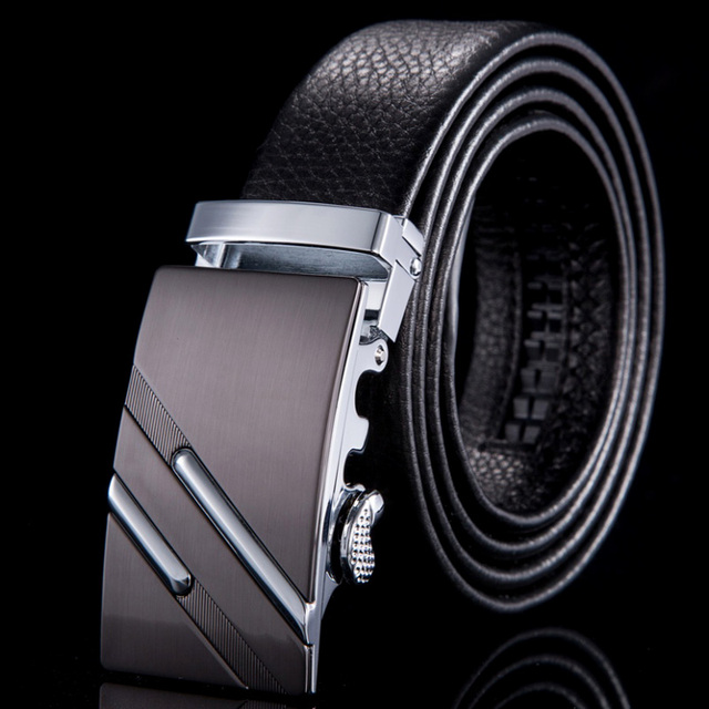 2015 New genuine leather belt brand cinto masculino designer belts men high quality automatic buckle strap male WN011
