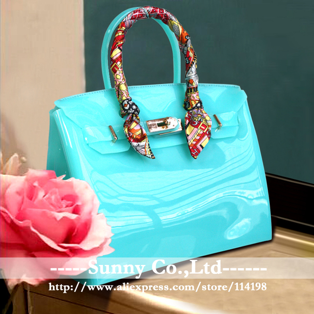 The  most popular vivid  candy color bag Jelly bag summer beach bag