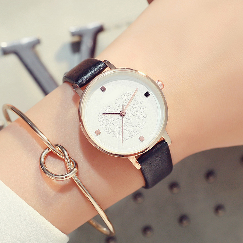 Women's <font><b>Fashion</b></font> <font><b>Leather</b></font> Stainless Watch Wholesale Quartz WristWatches Women Watches <font><b>Unisex</b></font> <font><b>Montre</b></font> <font><b>Femme</b></font> <font><b>Reloj</b></font> <font><b>Mujer</b></font> Hot Sale image