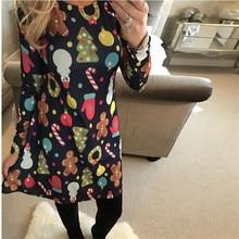 Large Sizes 2018 New Autumn font b Women b font Casual Long Sleeve Cute Christmas Tree