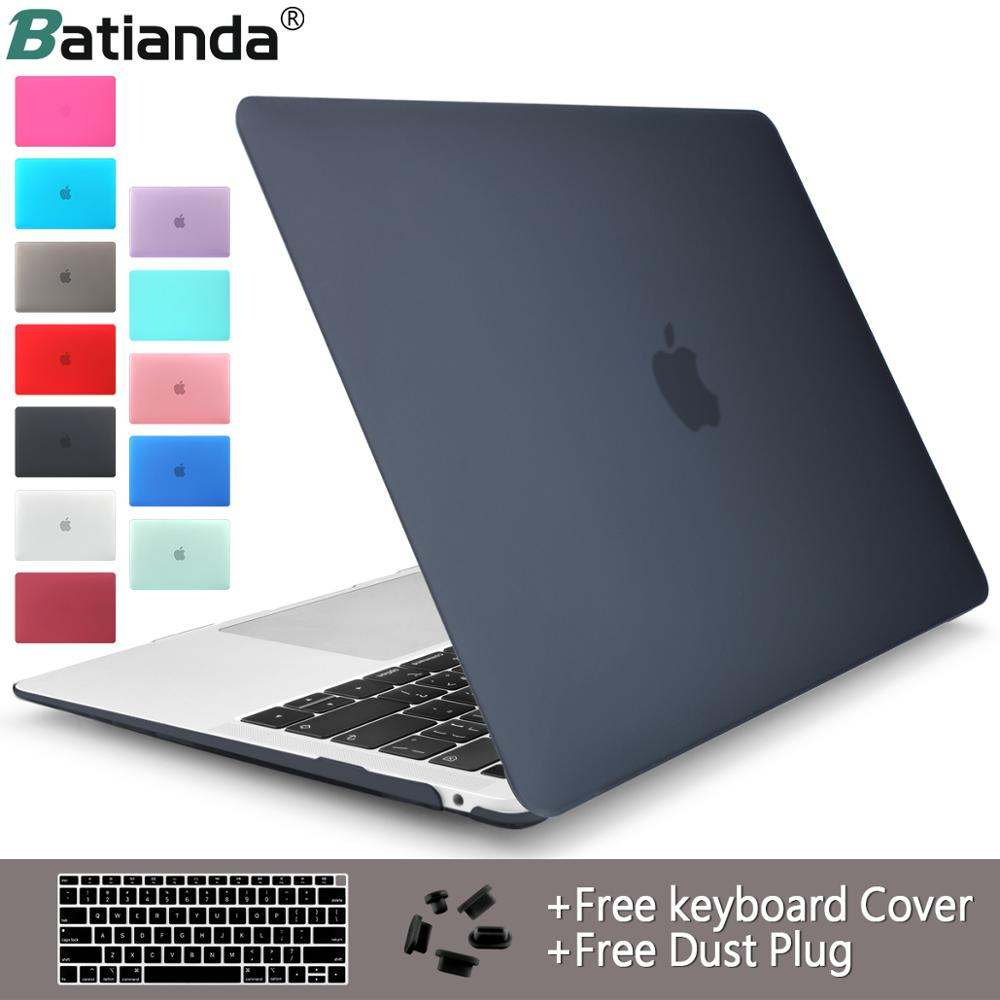 Crystal Clear Matte Rubberized Hard Case Cover for Macbook Pro 13.3 15.4 New Pro Retina 12 13 15Air 11 13 2018 Laptop ShellCrystal Clear Matte Rubberized Hard Case Cover for Macbook Pro 13.3 15.4 New Pro Retina 12 13 15Air 11 13 2018 Laptop Shell