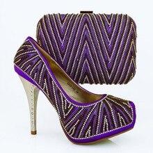 Italienische Passenden Schuhe Und Tasche Set Mit Strass Top Qualität Afrikanische Schuhe Whit Passender Tasche Für Hochzeit 1308-L66