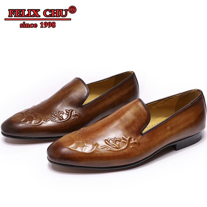 ELEGANT MEN CASUAL SHOES LOAFERS LEATHER SHOES MEN OFFICE BROWN COFFEE SLIP ON FRETWORK PRINT FASHION MEN CASUAL SHOE NEW SPRING-in Men's Casual Shoes from Shoes    1