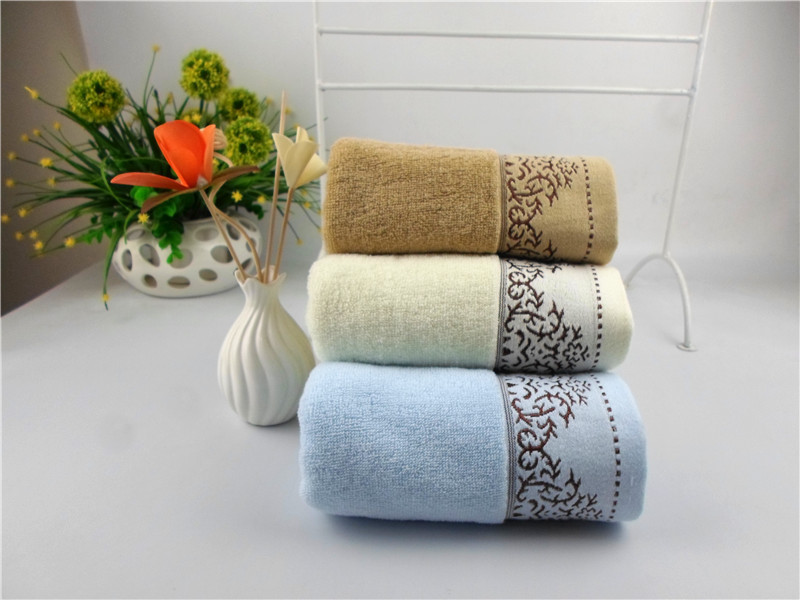 Disposable Hand Towels For Bathroom #37: 2016 34*75cm Jacquard Cotton Terry Hand Towels,Solid Decorative Elegant Embroidered Face Bathroom Hand Towels,Toallas Mano